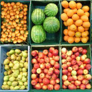 Bei Vitaminmangel hilft ein Einkauf auf dem Obstmarkt!