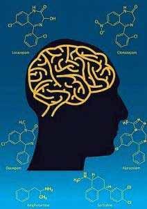 Benzodiazepine wie Lorazepam, Clonazepam, Diazepam, Alprazolam, Amphetamine und Sertraline sind sind chemische Verbindungen mit beruhigender Wirkung.