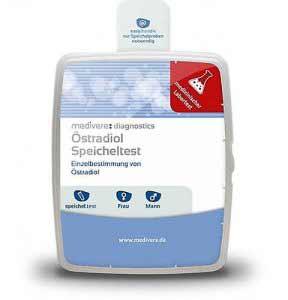 Auf Basis einer Speichelprobe kann mit einem Östradiol Test ein Östrogenmangel diagnostiziert werden..