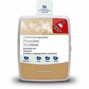 Ein Parasitentest ist ein Stuhl- bzw. Kottest zum Nachweis von Darmparasiten bei Menschen oder Tieren.