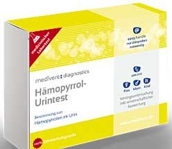 Mit dem HPU Test von Medivere können Sie schnell und einfach auf Basis einer Urinprobe eine Kryptopyrrolurie feststellen.