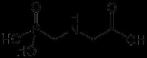 Das ist die Strukturformel für Glyphosat.